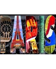 Пазл Париж коллаж