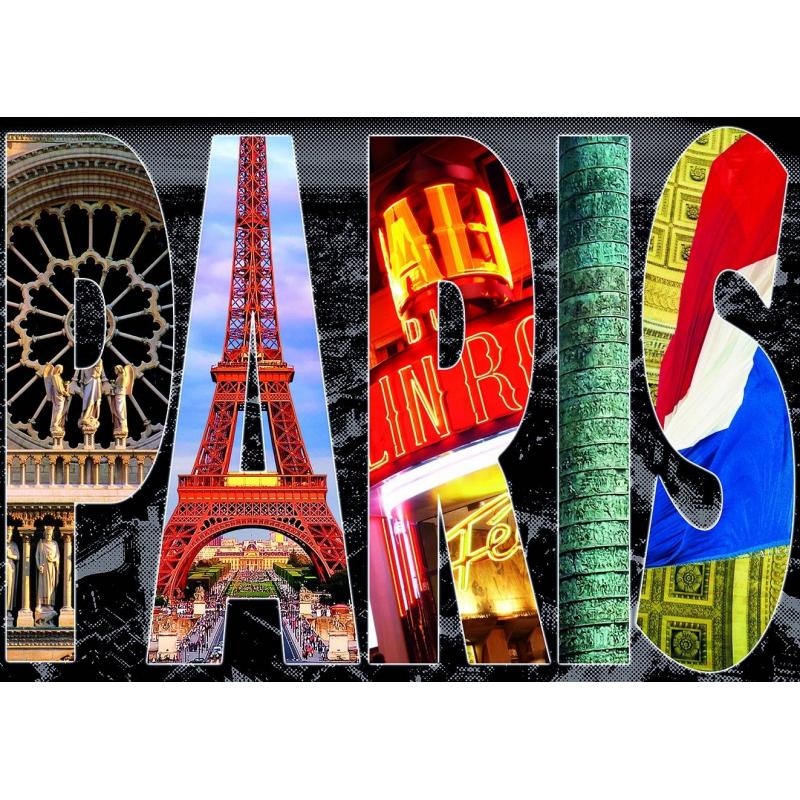 Educa Пазл Париж коллаж 1000 деталей пазлы educa пазл эйфелева башня париж 500 элементов