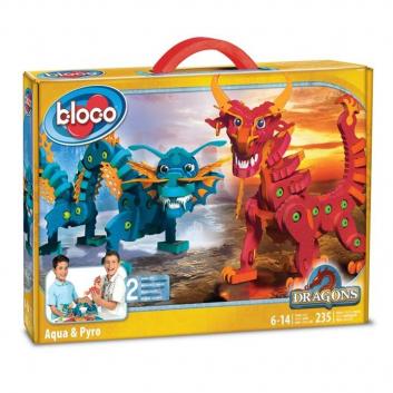 Игрушки, Конструктор Драконы воды и огня Bloco , фото
