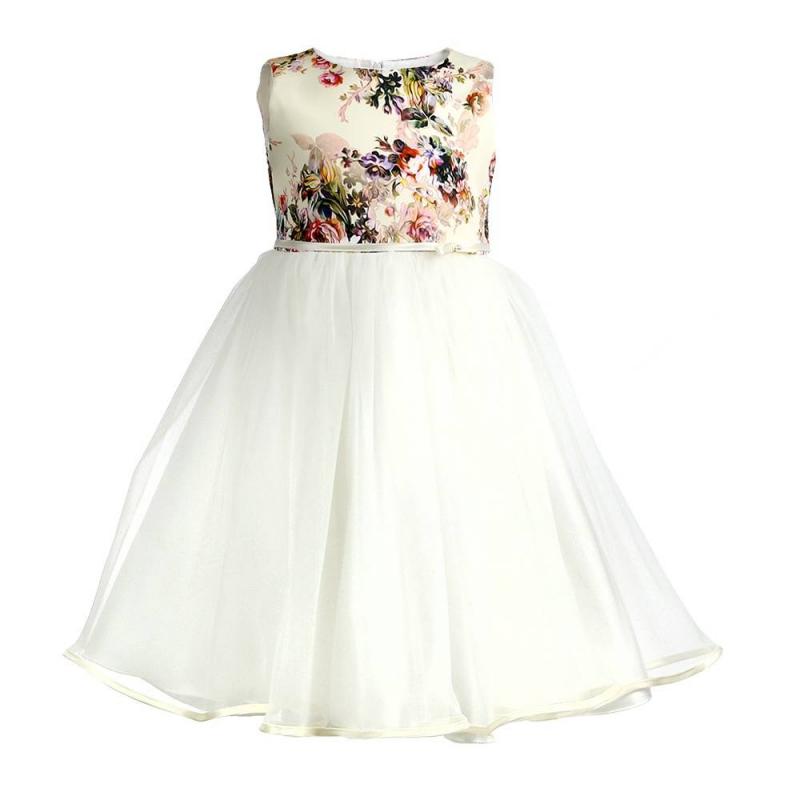 ПлатьеПлатьебежевогоцвета марки Fansy Way.<br>Праздничное платье на широких бретелях с пышной плиссированной юбкой из фатина дополнено подъюбником и хлопковой подкладкой. Атласный топ платья украшен принтом с изображениями цветов, элегантным поясом с бантиком на талии. Платье застегивается на потайную молнию на спинке, а также лентами на поясе.<br>Нарядное платье Fansy Way станет самым изысканным нарядом на любом празднике.<br><br>Размер: 12 месяцев<br>Цвет: Бежевый<br>Рост: 80<br>Пол: Для девочки<br>Артикул: 677035<br>Бренд: Россия<br>Страна производитель: Россия<br>Сезон: Всесезонный<br>Состав: 100% Полиэстер<br>Состав подкладки: 100% Хлопок<br>Вид застежки: Молния
