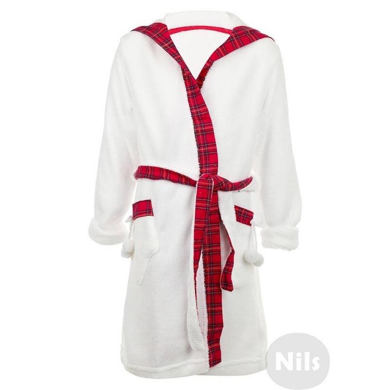 ХалатФлисовый халат белогоцвета марки PELICAN для девочек. Халат из мягкого флиса с поясом, капюшоном и карманами дополнен фланелевой отделкой розового цвета. Капюшон украшен забавной мордочкой овечки с ушками, карманы в форме варежек.<br><br>Размер: 10 лет<br>Цвет: Белый<br>Рост: 140<br>Пол: Для девочки<br>Артикул: 605773<br>Страна производитель: Китай<br>Сезон: Всесезонный<br>Состав: 100% Полиэстер<br>Бренд: Россия