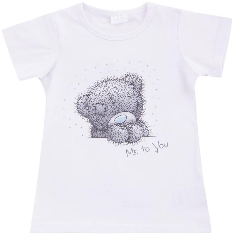 ФутболкаФутболка белого цвета марки Playtodayдля девочек.<br>Летняя футболка с коротким рукавом выполнена из хлопка с добавлением эластана. Модель декорированапринтом с изображениеммилого мишки, надписью Me to you и сверкающими стразами.<br><br>Размер: 3 года<br>Цвет: Белый<br>Рост: 98<br>Пол: Для девочки<br>Артикул: 649208<br>Страна производитель: Китай<br>Сезон: Весна/Лето<br>Состав: 95% Хлопок, 5% Эластан<br>Бренд: Германия