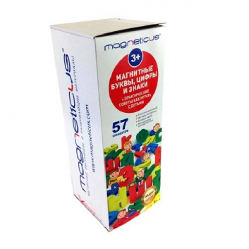 Игрушки, Развивающий магнитный набор Буквы цифры знаки Magneticus 658581, фото
