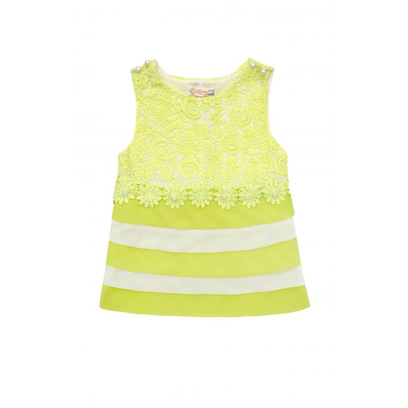 ПлатьеПлатье салатового цвета из коллекции Lacy Bloomsмарки De Salitto.<br>Хлопковое комбинированное платьебез рукавов декорировано кружевом на топе. Расширенная юбка выполнена из шифоновых слоев.<br><br>Размер: 2 года<br>Цвет: Салатовый<br>Рост: 92<br>Пол: Для девочки<br>Артикул: 680078<br>Бренд: Италия<br>Страна производитель: Китай<br>Сезон: Весна/Лето<br>Состав: 95% Хлопок, 5% Спандекс