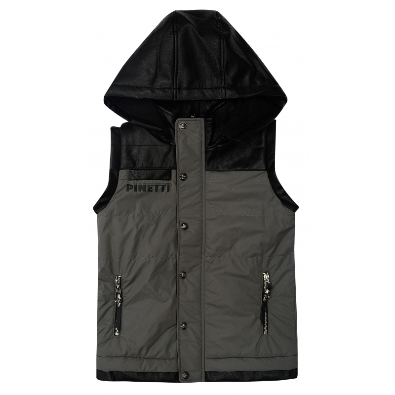 ЖилетЖилет чёрного цвета из коллекцииThe Biker марки De Salitto для мальчиков.<br>Утеплённый комбинированный жилет выполнен из курточной ткани и искусственной кожи. Модель дополнена хлопковой подкладкой и карманами на молнии.<br><br>Размер: 14 лет<br>Цвет: Черный<br>Рост: 162<br>Пол: Для мальчика<br>Артикул: 680776<br>Бренд: Италия<br>Страна производитель: Китай<br>Сезон: Весна/Лето<br>Состав: 50% Полиуретан, 50% Полиэстер<br>Состав подкладки: 100% Хлопок<br>Наполнитель: 100% Полиэстер