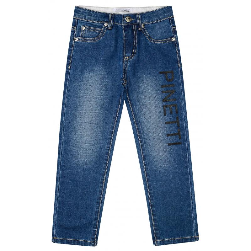 ДжинсыДжинсы синего цвета из коллекцииNumber of Winners марки De Salitto для мальчиков.<br>Стильные джинсы выполнены из хлопка с добавлением эластана. Модель дополнена передними и задними карманами, а также шлёвками для ремня. Джинсы украшены принтом с логотипом бренда.<br><br>Размер: 7 лет<br>Цвет: Синий<br>Рост: 122<br>Пол: Для мальчика<br>Артикул: 680849<br>Бренд: Италия<br>Страна производитель: Китай<br>Сезон: Весна/Лето<br>Состав: 85% Хлопок, 15% Эластан