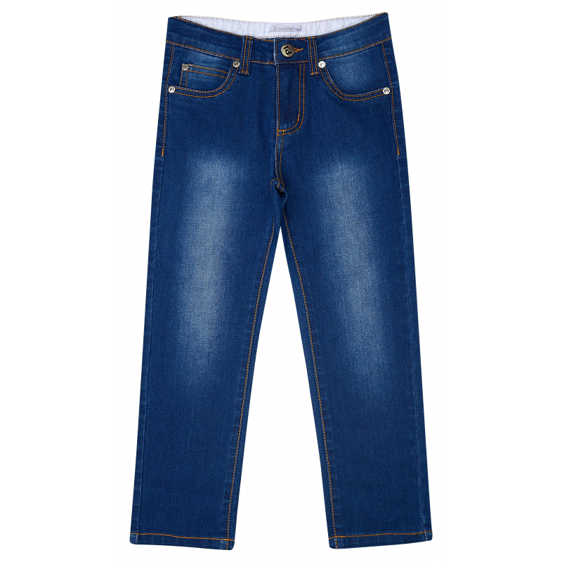 ДжинсыДжинсысинегоцвета из коллекцииMickeys garage марки De Salitto для мальчиков.<br>Стильные джинсы выполнены из хлопка с добавлением эластана и дополнены карманами, а также шлевками для ремня. Удобная модель выгодно подчеркнута декоративными потертостями и контрастной строчкой.<br><br>Размер: 7 лет<br>Цвет: Синий<br>Рост: 122<br>Пол: Для мальчика<br>Артикул: 680879<br>Бренд: Италия<br>Сезон: Весна/Лето<br>Состав: 85% Хлопок, 15% Эластан