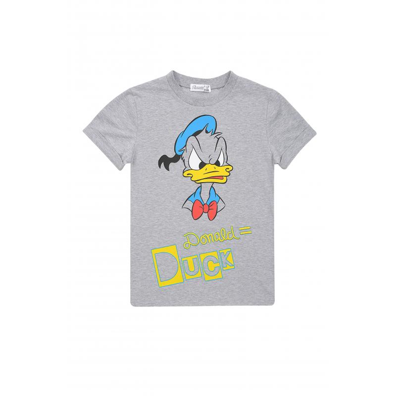ФутболкаФутболка серогоцвета из коллекцииDanger D марки De Salitto для мальчиков.<br>Стильная футболка с коротким рукавом выполнена из хлопка с добавлением эластана и декорирована изображением Дональда Дака.<br><br>Размер: 5 лет<br>Цвет: Серый<br>Рост: 110<br>Пол: Для мальчика<br>Артикул: 680978<br>Бренд: Италия<br>Сезон: Весна/Лето<br>Состав: 95% Хлопок, 5% Эластан<br>Лицензия: Disney