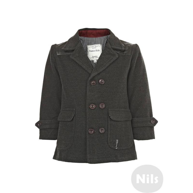 ПиджакТемно-серый пиджак марки NANICA для мальчиков. Пиджак с двумя рядами пуговиц выполнен из мягкого плотного материала, имеет два кармана с клапанами. Верх пиджака отделан искусственной кожей. Подкладка из стопроцентного хлопка в мелкую клеточку.<br><br>Размер: 3 года<br>Цвет: Темносерый<br>Рост: 98<br>Пол: Для мальчика<br>Артикул: 606237<br>Страна производитель: Турция<br>Сезон: Всесезонный<br>Состав подкладки: 100% Хлопок<br>Бренд: Турция