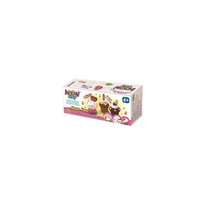 Angel Clay Игровой набор для творчества Mini Cup Cake набор для лепки donerland angel clay funny safari aa14021