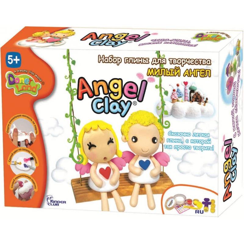 Игровой набор для творчества Милый АнгелИгровой набор для творчества Милый Ангел марки Angel Clay для девочек.<br>Ангельская глина Angel Clay – удивительно легкий и нежный пластилин для лепки. Творить с Angel Clay одно удовольствие - ангельская глина принимает любую текстуру, позволяя создавать детализированные фигурки. Наборспециально создан для простой и увлекательной лепки фигурок ангелочков и включает пошаговую инструкцию с доступным объяснением как лепить такие фигурки. Ангельскую глину можно легко окрасить в любой цвет красителем на водной основе: фломастером, шариковой ручкой или гуашью. Для этого необходимо нанести немного красителя на глину и хорошо замесить ее как тесто. Застывшие детальки можно склеивать обычным канцелярским клеем. Когда ребенок вдоволь наиграется своей поделкой, ангельскую глину можно сбрызнуть водой и лепить из нее снова!<br>Мягкий пластилин предоставляет отличную возможность развивать детское воображение, творческие способности, мелкую моторику, внимательность и навыки лепки.<br>В набор входит:ангельская глина 1 баночка 180 мл (белый цвет для окрашивания), ангельская глина 2 баночки по 18 мл (красная и желтая), пресс кондитерский для лепки сложных форм, инструменты для лепки, пошаговая инструкция с иллюстрациями как слепить фигурки ангелочков.<br>Размер коробки: 26х18х6 см.<br>Набор предназначен для детей от 5 лет.<br><br>Возраст от: 5 лет<br>Пол: Для девочки<br>Артикул: 700362<br>Бренд: Южная Корея<br>Страна производитель: Южная Корея<br>Размер: от 5 лет
