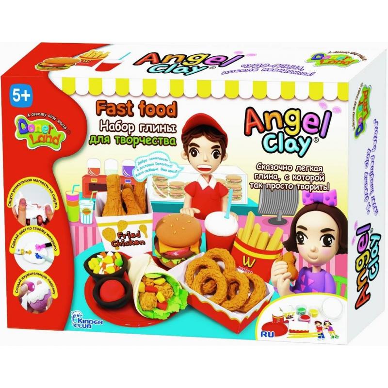 Angel Clay Игровой набор для творчества Fast food набор для лепки donerland angel clay funny safari aa14021