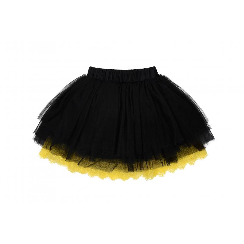 ЮбкаЮбка черногоцвета из коллекцииLove Minnis марки De Salitto.<br>Многослойная юбка-пачка на подкладке, выполненная из фатина, дополнена эластичной резинкой на поясе и декорирована яркой кружевной рюшей.<br><br>Размер: 11+ лет<br>Цвет: Черный<br>Рост: 150<br>Пол: Для девочки<br>Артикул: 680381<br>Страна производитель: Китай<br>Сезон: Весна/Лето<br>Состав: 35% Хлопок, 65% Нейлон<br>Бренд: Италия