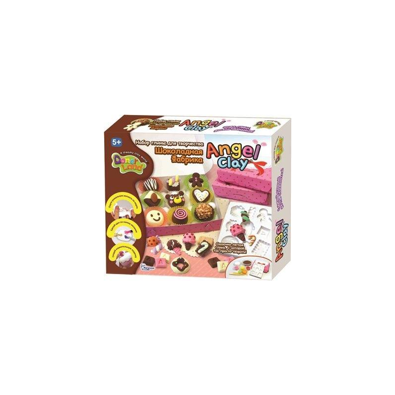 Angel Clay Игровой набор для творчества Sweet Chocolate набор для лепки donerland angel clay funny safari aa14021