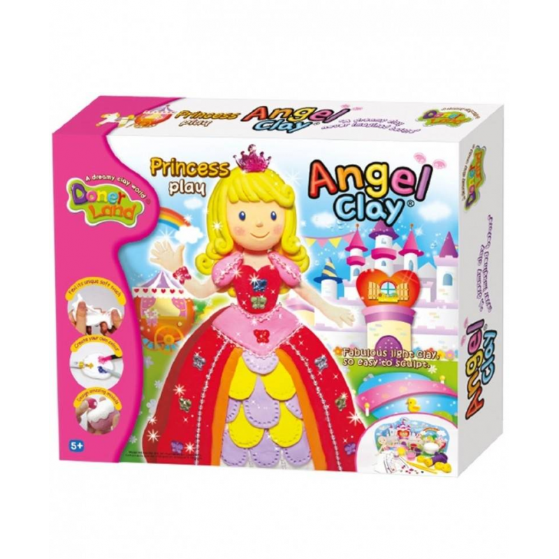 Angel Clay Игровой набор для творчества Princess Play наборы для лепки sentosphere набор для творчества текстурный пластилин серия патабул