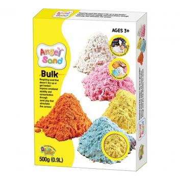 Творчество, Набор песка для игры и творчества Жёлтый 0,9 л Angel Sand 700377, фото