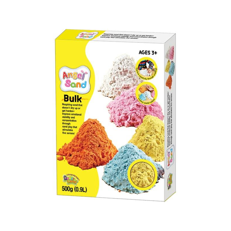 Набор песка для игры и творчества Жёлтый 0,9 л
