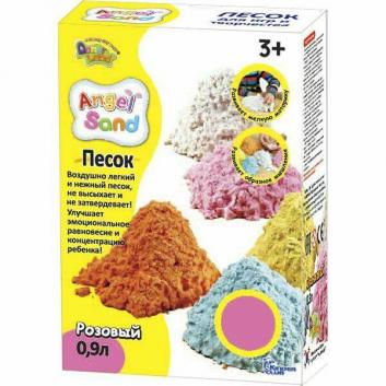 Набор песка для игры и творчества Розовый 0,9 л