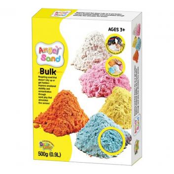 Набор песка для игры и творчества Голубой 0,9 л