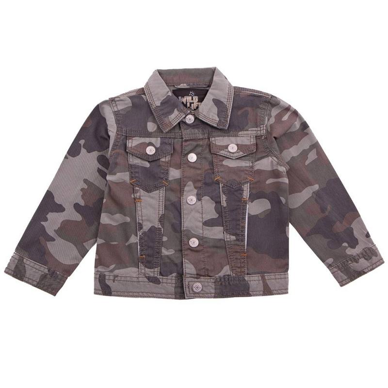 КурткаКуртка цвета хаки марки Playtoday для мальчиков.<br>Куртка выполнена из натурального хлопка и декорирована камуфляжным принтом, а также дополнена передними карманами. Модель с отложным воротничком застегивается на удобные кнопки.<br><br>Размер: 7 лет<br>Цвет: Хаки<br>Рост: 122<br>Пол: Для мальчика<br>Артикул: 649513<br>Страна производитель: Китай<br>Сезон: Весна/Лето<br>Состав: 100% Хлопок<br>Бренд: Германия