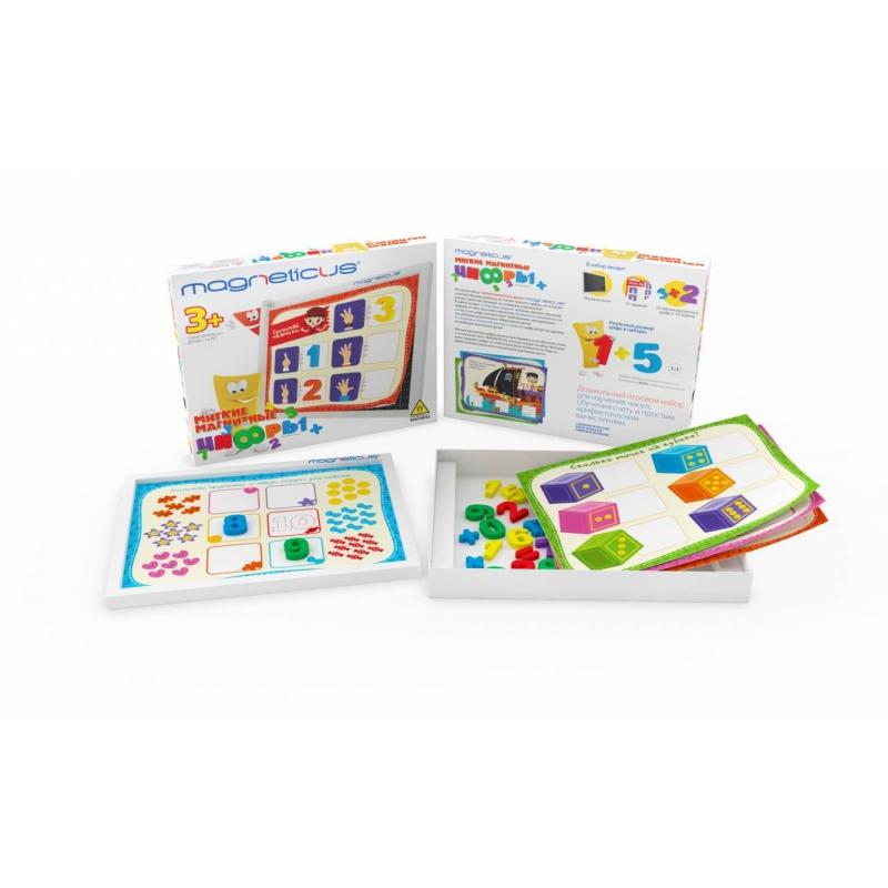 Мягкие магнитные цифрыМягкие магнитные цифрымарки Magneticus.<br>Красочный набор, состоящий из мягких магнитных цифр, поможет ребенку выучить цифры и даст возможность тренироваться в счете.<br>Комплектация: 10 заданий, цифры.<br>Рекомендовано для детей от 3 лет.<br><br>Возраст от: 3 года<br>Пол: Не указан<br>Артикул: 658580<br>Бренд: Россия<br>Страна производитель: Россия<br>Размер: от 3 лет