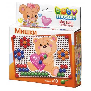 Мозаика с аппликацией Мишки