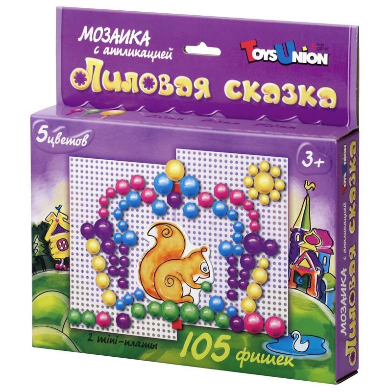ToysUnion Мозаика с аппликацией Лиловая сказка