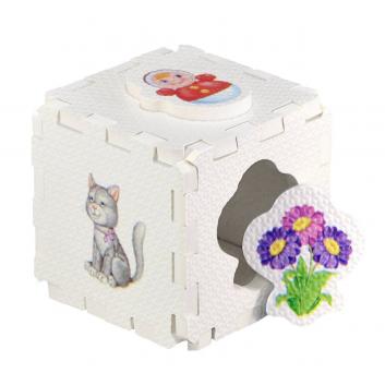 Игрушки, Развивающий кубик-пазл Для девочек Робинс 701056, фото