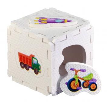 Развивающий кубик-пазл Для мальчиков