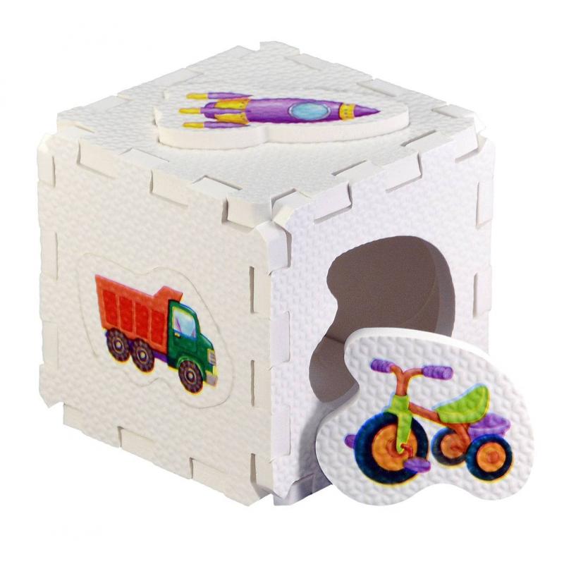 Робинс Развивающий кубик-пазл Для мальчиков кубик для виски в москве