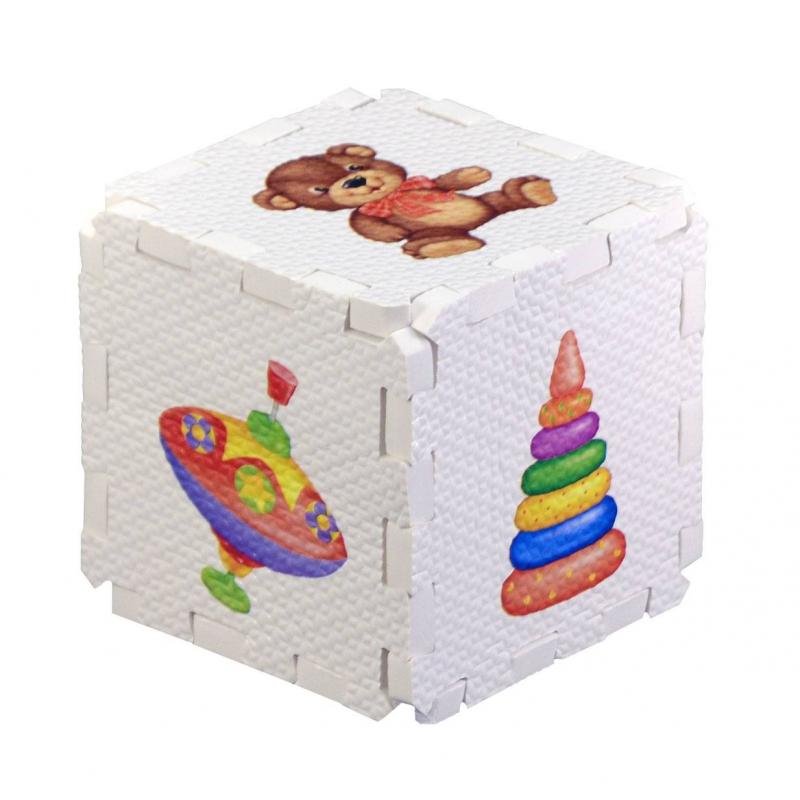Развивающий кубик-пазл Игрушки