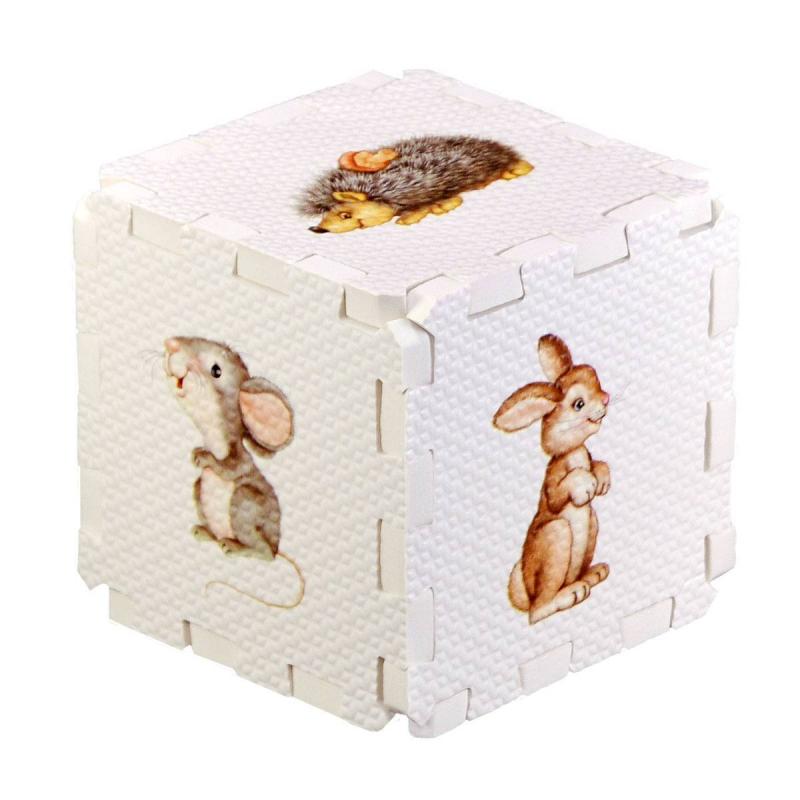 Робинс Развивающий кубик-пазл Лесные животные djeco пазл для малышей лесные животные