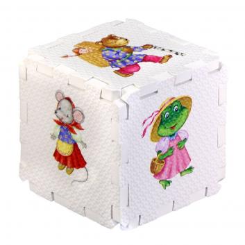 Развивающий кубик-пазл Сказочные животные