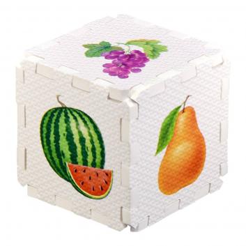Игрушки, Развивающий кубик-пазл Фрукты и ягоды Робинс 701066, фото