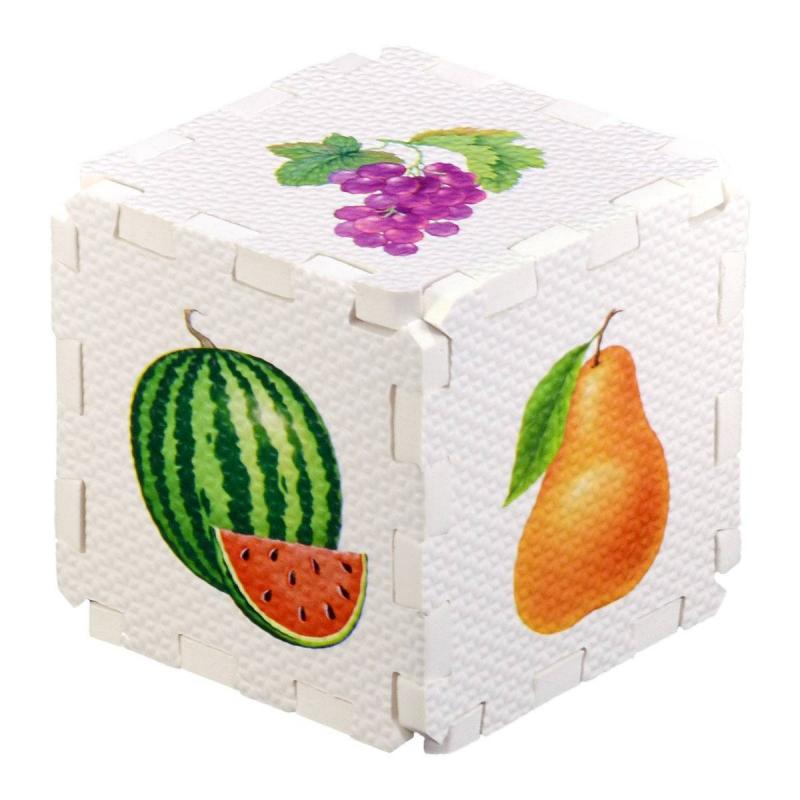 Робинс Развивающий кубик-пазл Фрукты и ягоды книги издательство робинс книжный конструктор развивающий кубик
