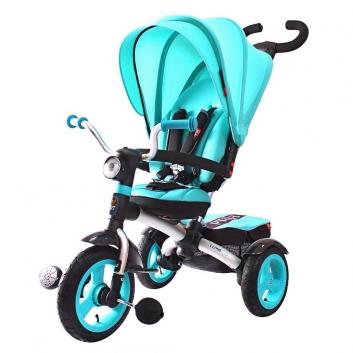 Спорт и отдых, Велосипед-коляска трехколесный Luxe Aluminium ICON (бирюзовый), фото