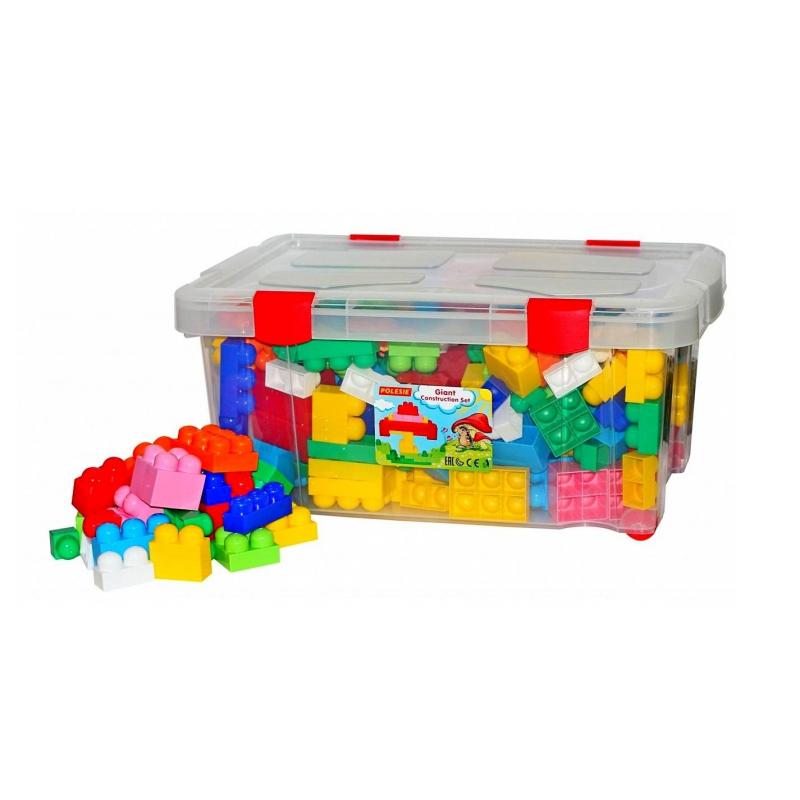 Конструктор Великан 204 элементаКонструктор Великан 204 элемента марки Полесье.<br>Идеальный конструктор для самых маленьких детей, которые только учатся собирать из деталей блочных конструкторов. Все элементы собраны в удобный пластиковый контейнер, который прекрасно подходит для хранения и транспортировки. Он легко открывается и закрывается с помощью специальных зажимов, так похожих на зажимы настоящих строительных контейнеров для взрослых. Конструктор изготовлен из высококачественной пластмассы по самым современным европейским технологиям. Пластик не деформируется и не выгорает под солнцем.<br>В комплекте: 204 элемента.<br>Размер: 62х29х42 см;<br>Вес: 1,7 кг.<br><br>Возраст от: 2 года<br>Пол: Не указан<br>Артикул: 650708<br>Бренд: Россия<br>Размер: от 2 лет