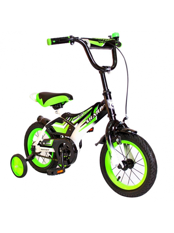 Велосипед двухколесный BA Sharp 12 RT (зеленый)