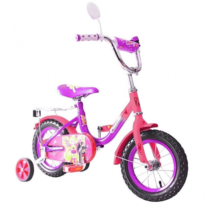 Велосипед двухколесный BA Camilla 12Велосипед двухколесный BA Camilla 12 фиолетового цвета марки RT.<br>Яркий велосипед с прочной стальной рамой и стойким антикоррозийным покрытием. По центру продумана мягкая накладка. Удлиненные стальные крылья и стальной руль ВМХ. Велосипед дополнен съемными боковыми колесами с жесткой прорезиненной поверхностью и усиленным кронштейном.<br>Колеса надувные размером 12 дюймов на подшипниках. Защитный кожух на цепи. Модель с задним ножнымтормозом. В комплекте также багажник-хром, зеркало заднего вида на гибкой ножке, звонокна руле. Количество скоростей – 1.<br><br>Цвет: Фиолетовый<br>Возраст от: 3 года<br>Пол: Для девочки<br>Артикул: 650738<br>Бренд: Россия<br>Размер: от 3 лет