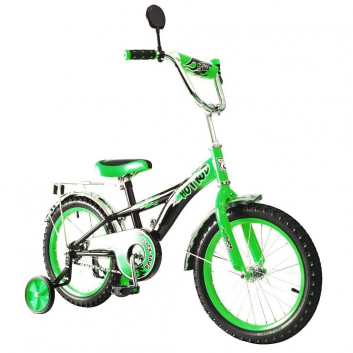 Спорт и отдых, Велосипед двухколесный BA Hot Rod 16 RT (зеленый)650758, фото