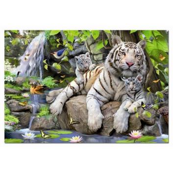 Игрушки, Пазл Белые Бенгальские Тигры 1000 деталей Educa 667208, фото