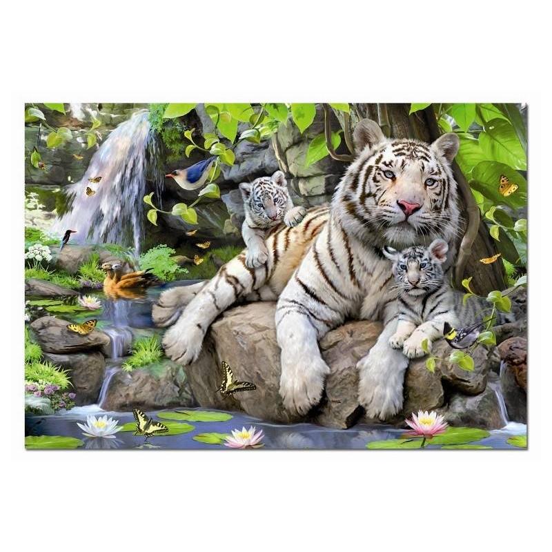 Educa Пазл Белые Бенгальские Тигры 1000 деталей пазлы educa пазл 1000 деталей полночная роза