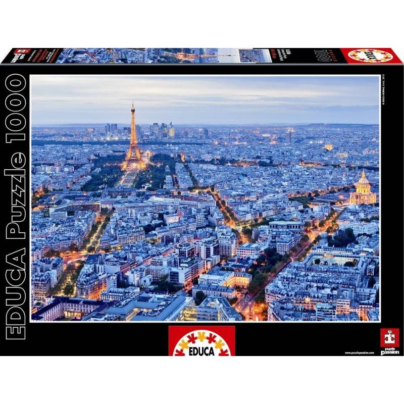 Educa Пазл Огни Парижа 1000 деталей пазлы educa пазл эйфелева башня париж 500 элементов