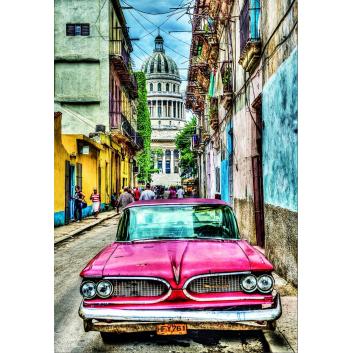 Пазл Винтажное авто в старой Гаване 1000 деталей