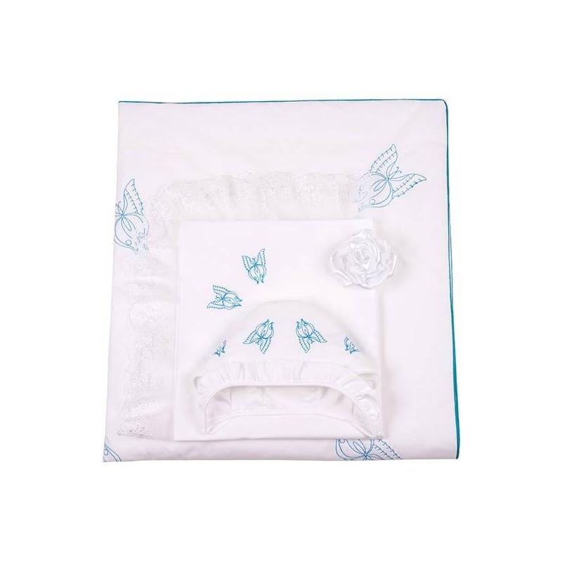 Ангел мой Комплект на выписку Бабочка 7 предметов одеяло голубого цвета brums ут 00011819