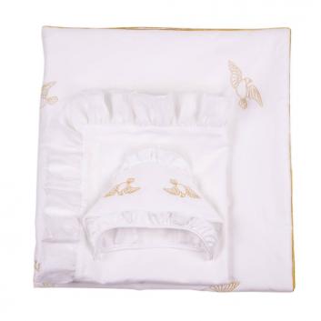 Малыши, Комплект на выписку Ангел мой 7 предметов Ангел мой (белый)640497, фото