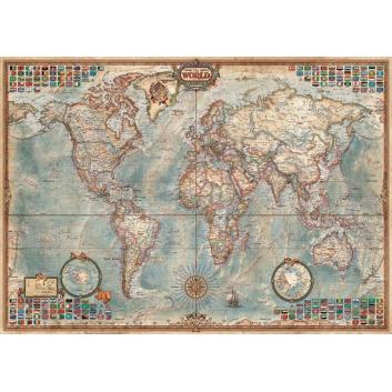 Пазл Политическая карта 1500 деталей