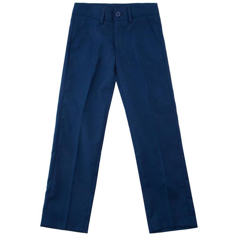 БрюкиБрюки тёмно-синегоцвета маркиButton Blue для мальчиков.<br>Брюки классического дизайна, выполненные из мягкой ткани,застёгиваются на молнию и пуговицу. Модельдополнена функциональными передними и декоративными задними карманами,шлёвками для ремня, а также регулируемойкулиской на талии.<br><br>Размер: 10 лет<br>Цвет: Темносиний<br>Рост: 140<br>Пол: Для мальчика<br>Артикул: 636770<br>Страна производитель: Китай<br>Сезон: Всесезонный<br>Состав: 80% Полиэстер, 20% Вискоза<br>Состав подкладки: 100% Полиэстер<br>Бренд: Россия