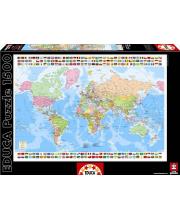 Пазл Карта мира 1500 деталей