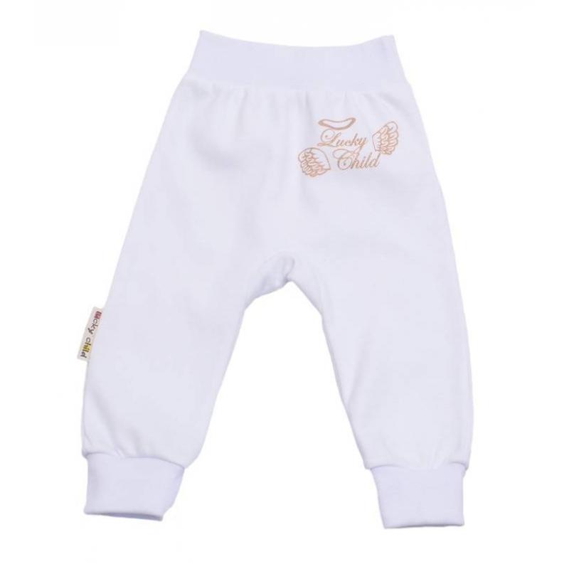 БрюкиБрюки белого цвета марки Lucky Child.<br>Однотонные брюки выполнены из чистого хлопка и декорированы изображением логотипа марки.Модельдополненаширокой эластичной резинкой на поясе и манжетами.<br><br>Размер: 3 месяца<br>Цвет: Белый<br>Рост: 62<br>Пол: Не указан<br>Артикул: 685166<br>Страна производитель: Россия<br>Сезон: Всесезонный<br>Состав: 100% Хлопок<br>Бренд: Россия
